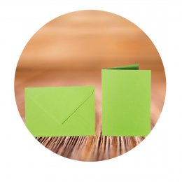 C6 Envelopes with adhesive tape and folding cards