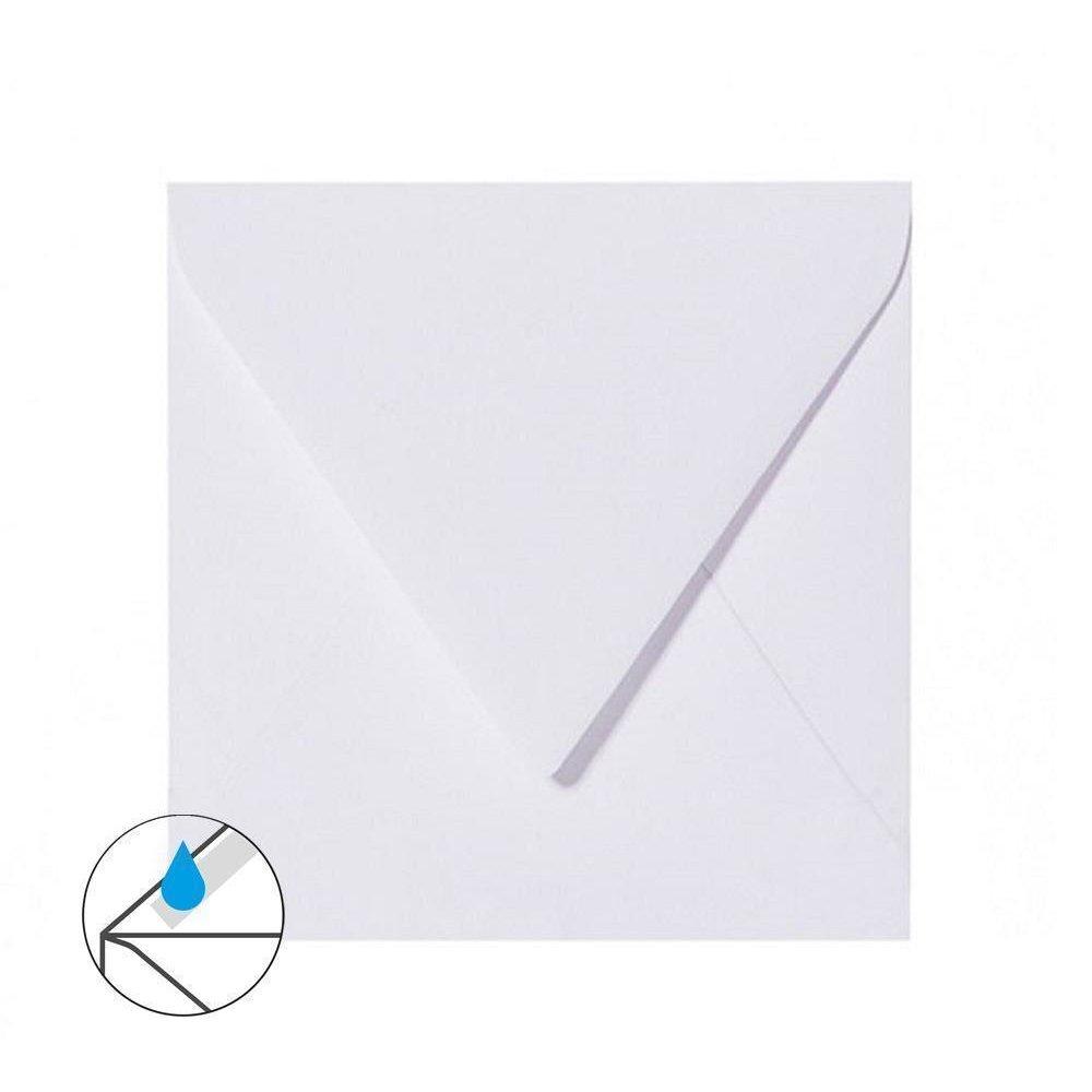 50 Quadratische Briefumschl/äge Wei/ß 125 x 125 mm 12,5 x 12,5 cm mit Dreieckslasche
