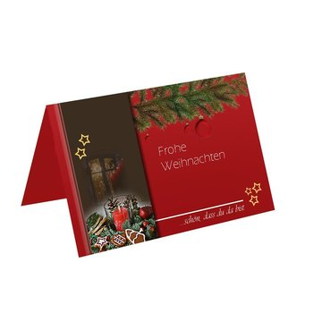 christmas place cards in high-quality design  150x100 mm