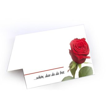 Schön das du da bist !! (rose)place cards in high-quality...