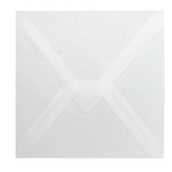 Square envelopes 4,92 x 4,92 in - transparent wet adhesive