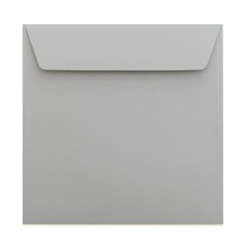 Square envelopes 6,69 x 6,69 in in gray with adhesive strips