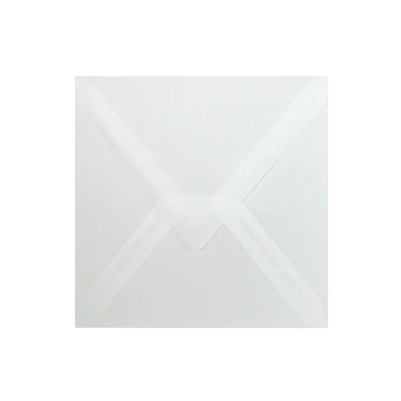 Square envelopes 4,33 x 4,33 in - transparent wet adhesive