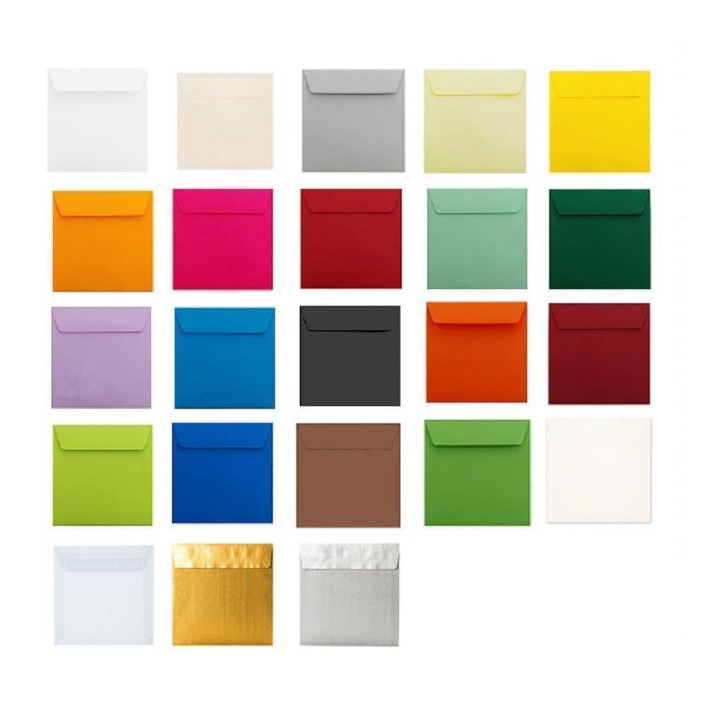 25 quadratische Briefumschläge 170x170 mm Transparent mit Haftstreifen