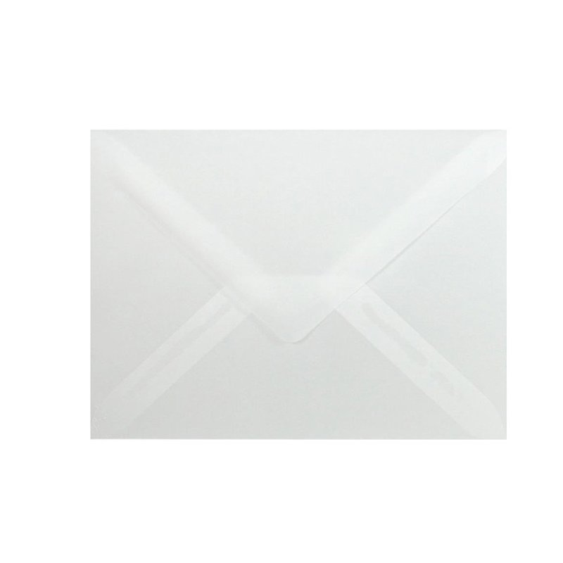 Mini envelopes 2,36 x 3,54 in in transparent for business cards
