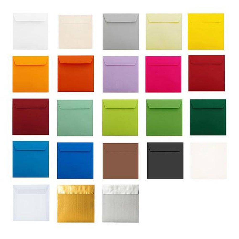 Briefhüllen 220 x 220 mm mit Haftstreifen 120 g 50 qudratische Briefumschläge