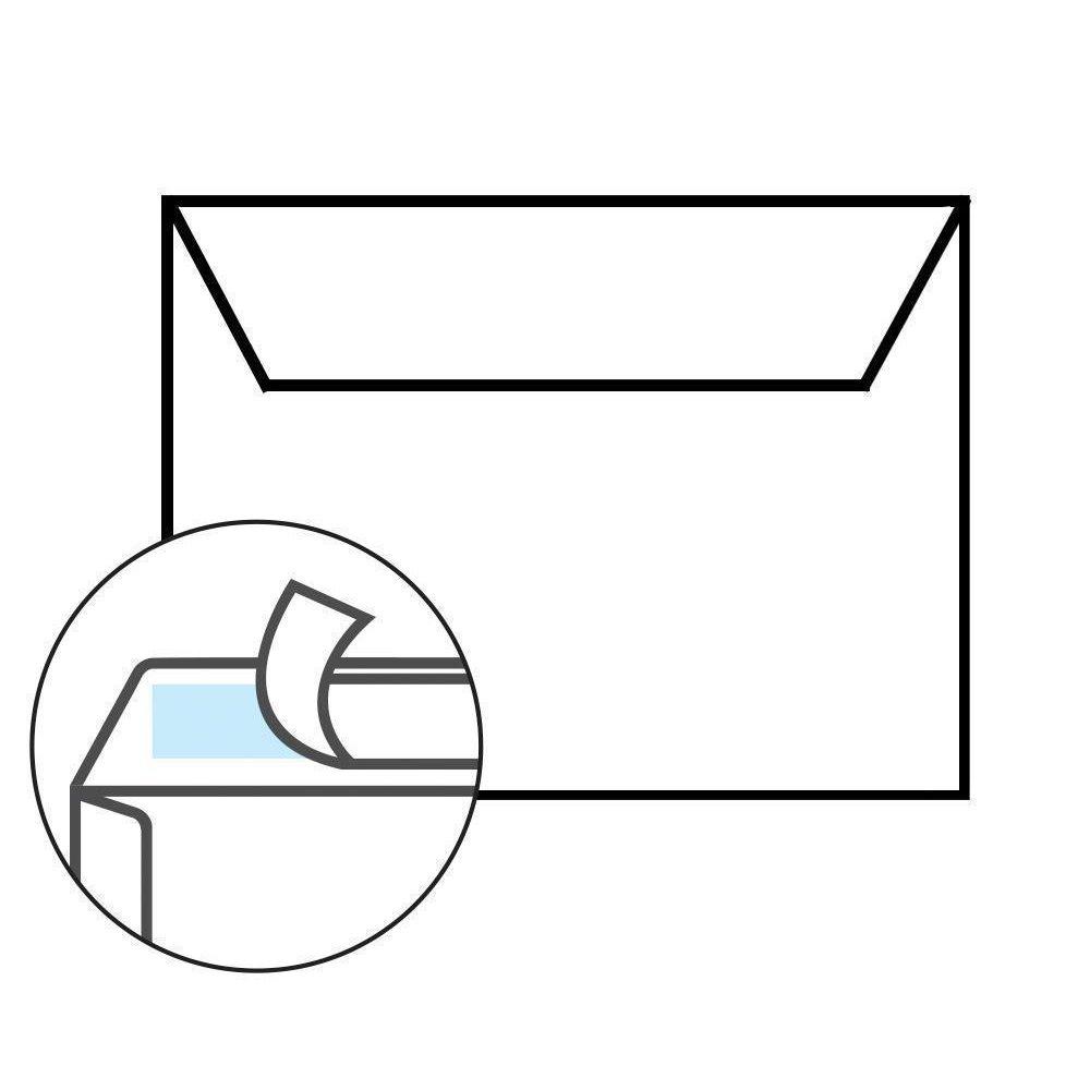 50 Briefumschläge DIN C6 Transparent 114x162mm transparentes Kuvert Werbung 92g