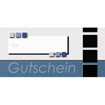 designed gift cards 98 x210 mm GG26 blue inkl. DIN long...