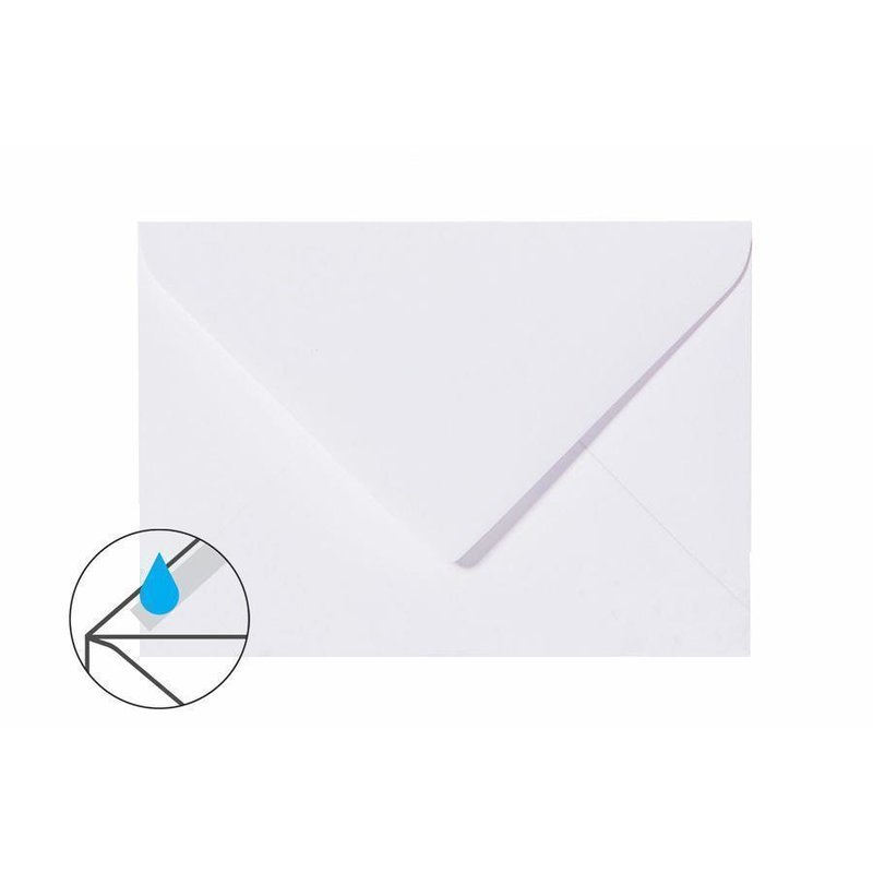 Envelopes DIN B6 (4,92 x 6,93 in) - white with triangular flap 120g