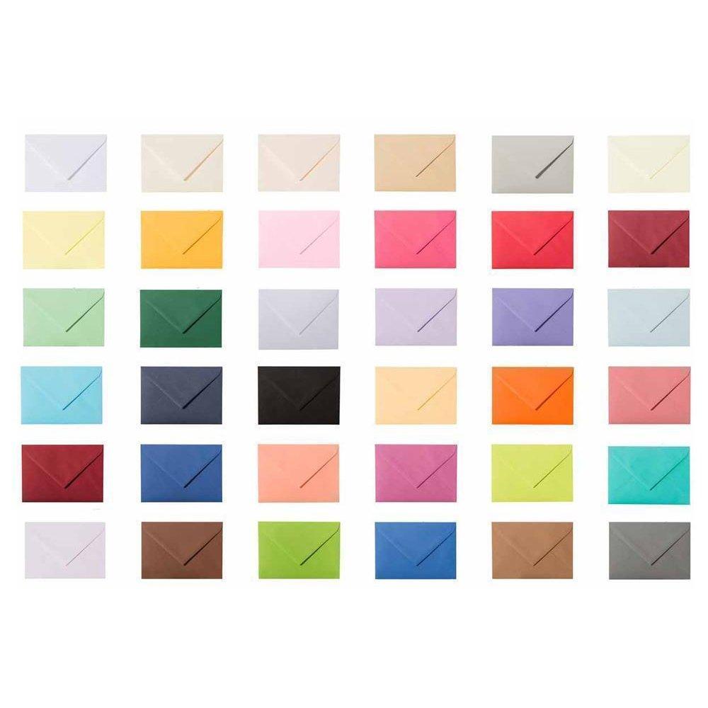 50 farbige DIN B6 Umschläge Kuverts Briefumschläge 120g feuchtklebend Farbwahl