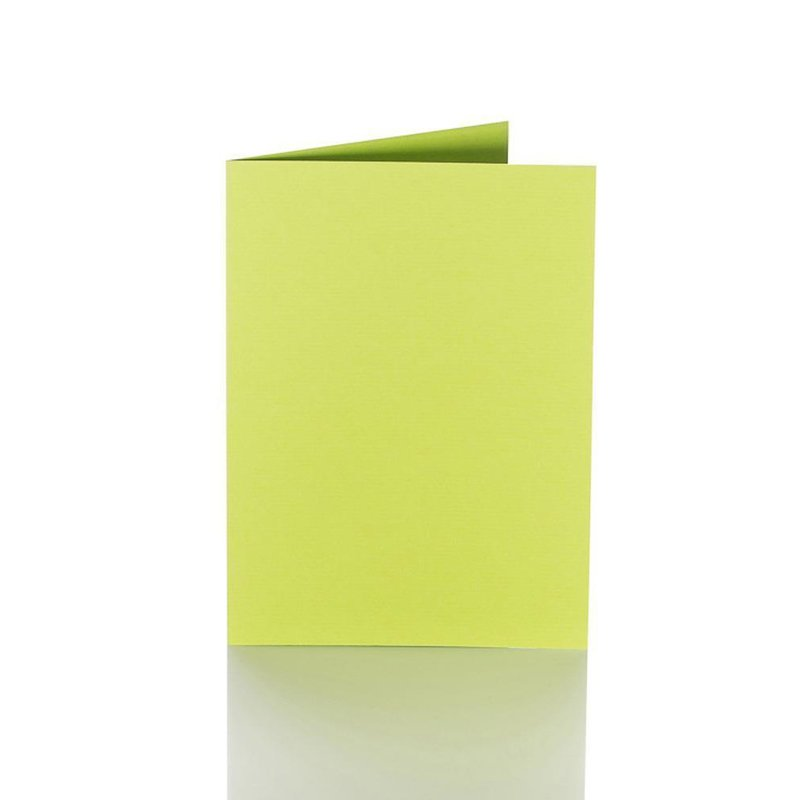 Folding cards 5.91 x 7.87 in - apple green