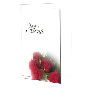 exclusive menu card MK Rose