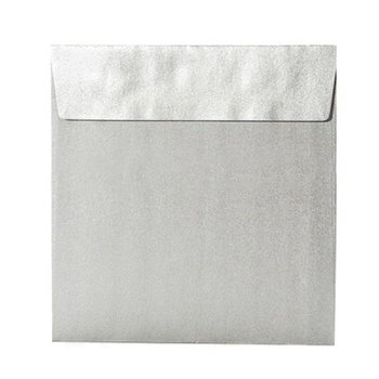 Envelope with adhesive 6,10 x 6,10 in in silver 120 g / qm