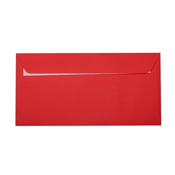 Envelopes 4,33 x 8,66 in with adhesive strips - red