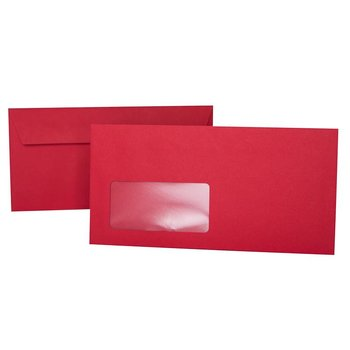 Envelopes 4,33 x 8,66 in with adhesive strips and window...