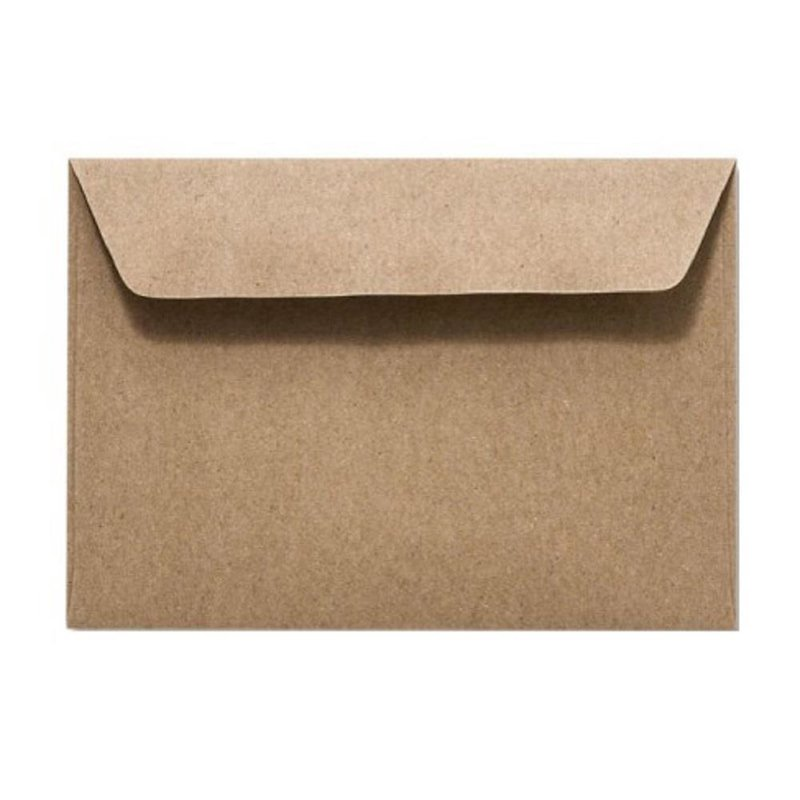Kraft paper envelopes DIN C6 (4,48 x 6,37 in) - recycled paper with adhesive strips