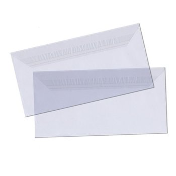 50 DIN long foil envelopes plastic envelopes 4,33 x 8,66...