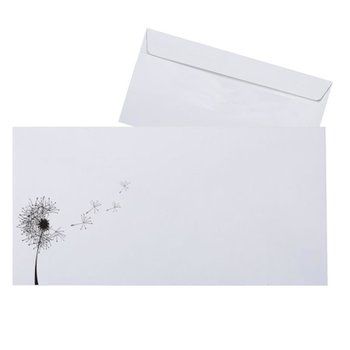 Mourning envelope 4,33 x 8,66 in - WITHOUT FOOD -...