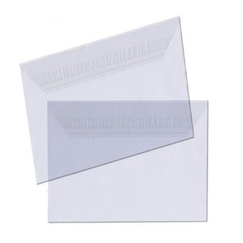 50 B6 envelopes 5.12 x 7.28 x 1.18 in - crystal clear...