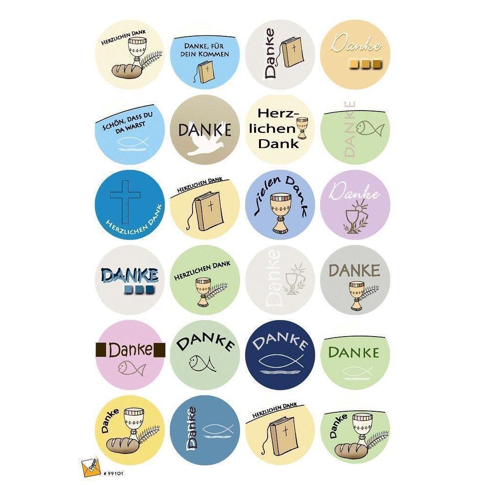 24 Etiketten Sticker Kommunion Konfirmation Firmung 40 Mm Selbstklebend 99101