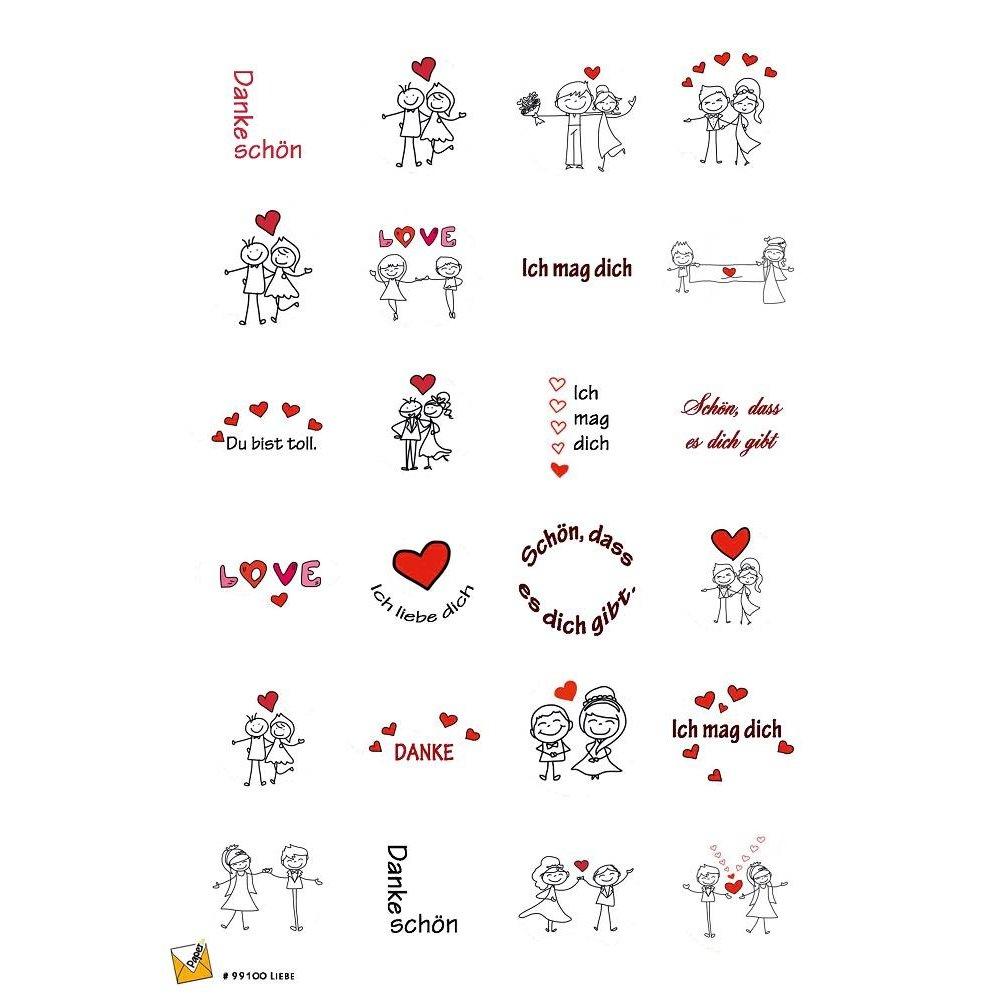 24 Etiketten Sticker Danke Hochzeit Liebe 40 Mm Selbstklebend 99100