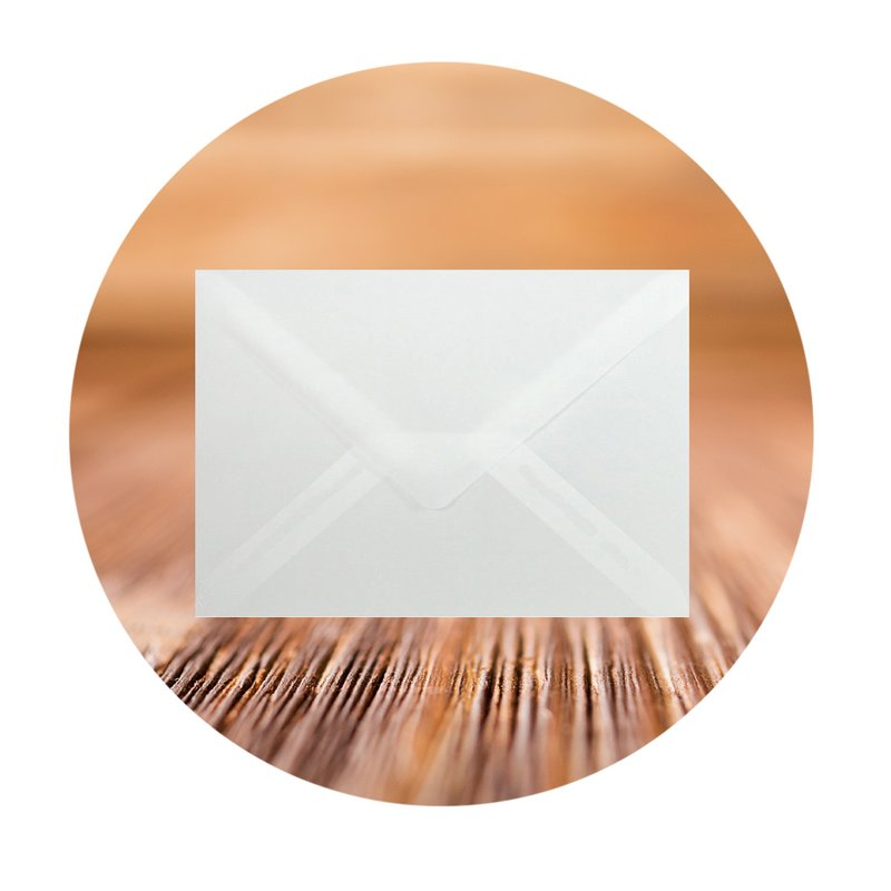 Transparent envelopes DIN B6 (4,92 x 6,93 in) with triangular flap