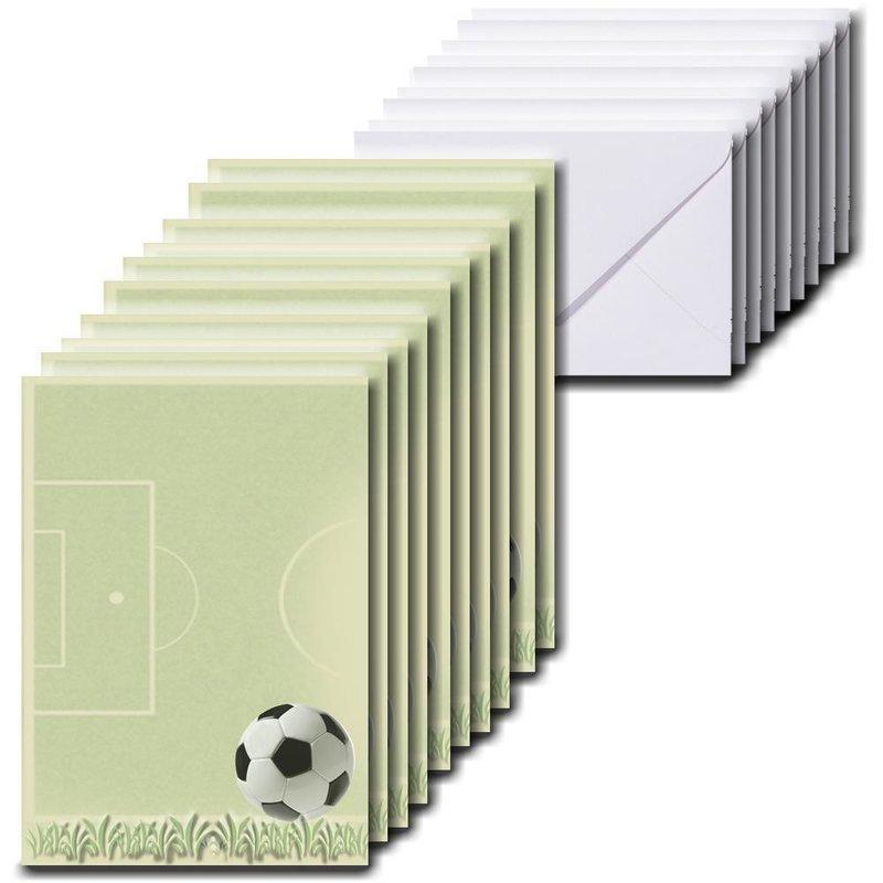 10 Blatt Briefpapier Für Kinder 10 X 15 Cm A6 Inkl 10 Briefumschläge Im Format 60 X 90 Mm Fußball