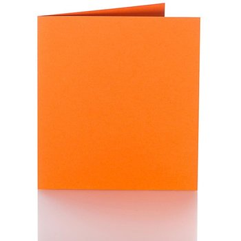 Folding cards 6.29 x 6.29 in - orange