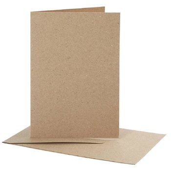 Kraft paper envelopes DIN C6 and folding cards - recycled...