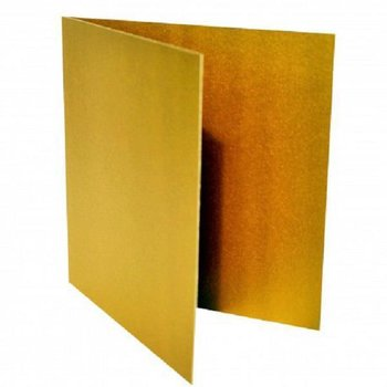 Folded card 3,94 x 3,94 in - gold