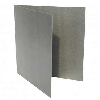 Folded card 3,94 x 3,94 in - silver