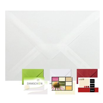 25 envelopes transparent 5,51 x 7,48 in for 5,12 x 7,09...
