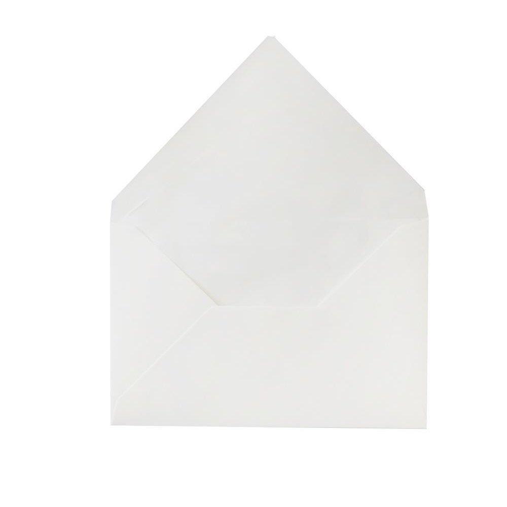 Versandtaschen Briefumschläge Kuverts DIN C6 114 x 162 mm Selbstklebung weiß