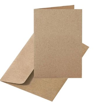 25 kraft paper envelopes DIN B6 and folding cards 4,13 x...