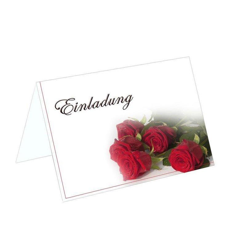 Klappkarte Einladung Zur Hochzeit KK50 ROSE Mit C6 In Weinrot ...