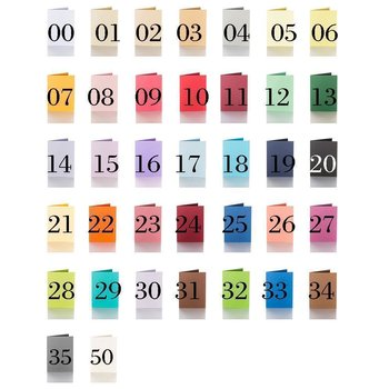 Color choice - folding cards 5,91 x 7,87 in 240 g / qm