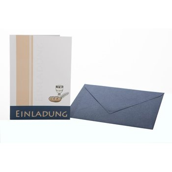 invitation cards communion /  confirmation  mit blueem...