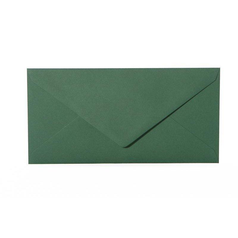 200 Briefumschläge weiß ohne Fenster 11x22 cm DIN lang nassklebend