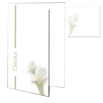 premium thank-you cards as folded cards with premium DIN...