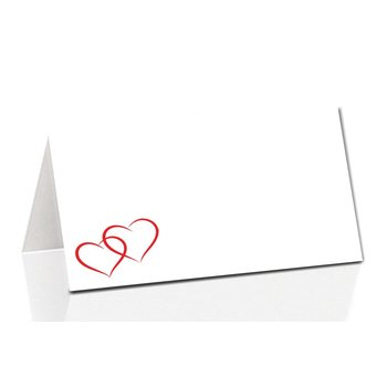 place card two hearts  TK55  85x56mm
