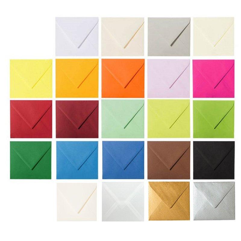feuchtklebend Grammatur 120 g//m/² 25 Briefumschl/äge 10,0 x 10,0 cm 100 x 100 mm Zart Creme Verschluss