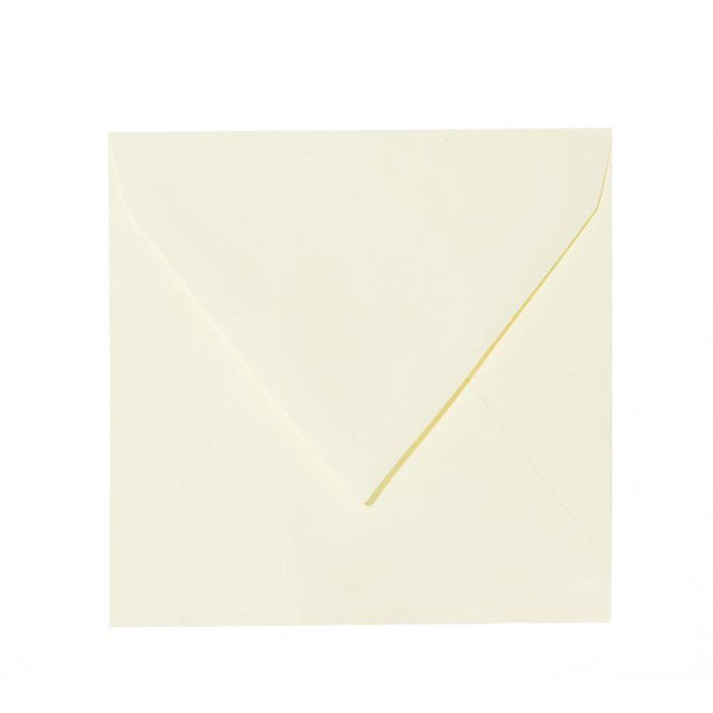 50 Quadratische Briefumschl/äge 15,5 x 15,5 cm 155 x 155 mm Intensiv Gelb Verschluss feuchtklebend Grammatur 120 g//m/²