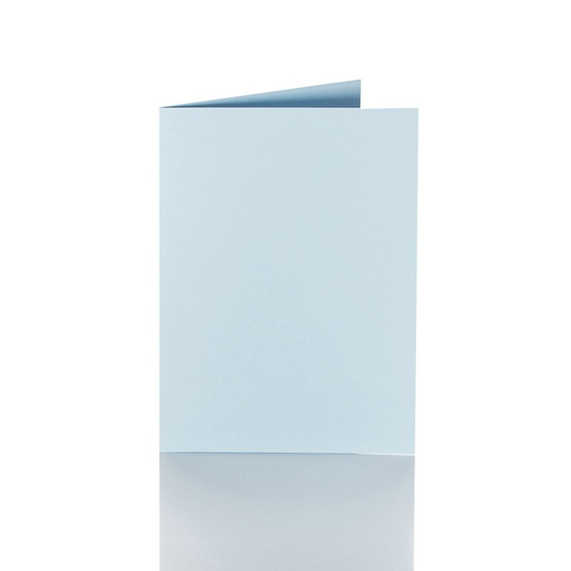 Haselnuss 25 farbige blanko Faltkarten Klappkarten 10x20 cm
