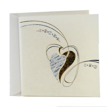 exclusive square wedding cards comes as a set